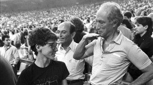 Justin and Pierre Trudeau, in the pre-post-partisan era, c. late 1980s.