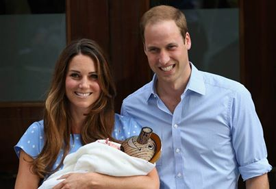 Kate, William, and prince P.G.
