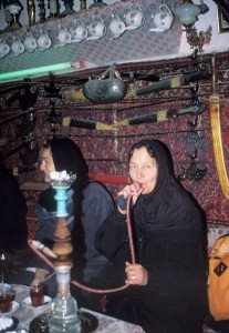 Inhaling in Iran.