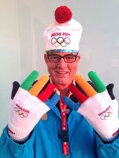 Tim Stevenson, rainbow gloves.