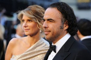 Birdman director Alejandro Inarritu (r.) at the Oscars.