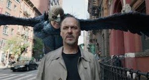 Michael Keaton and his Birdman alter ego.