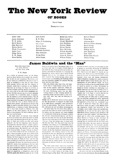 New York Review of Books, Issue No. 1, Feb. 1, 1963.