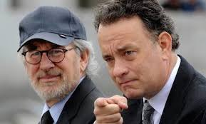 Steven Spielberg (l.), Tom Hanks (r.).
