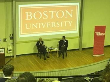 Talese at BU conference.