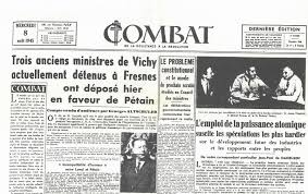 The French Resistance newspaper, Combat.