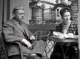 Sartre and Simone de Beauvoir.