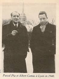 Pascal Pia and Camus, 1940.