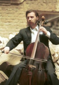 Cellist Vedran Smailovic.